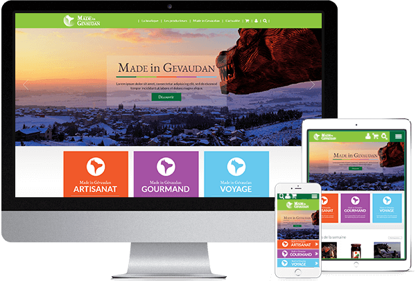 Webdesign du site internet Made in Gevaudan